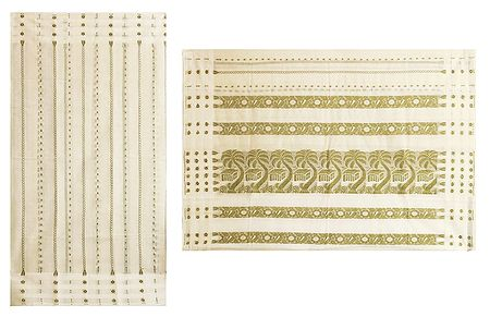 Ivory Color Tangail Saree with All-Over Boota