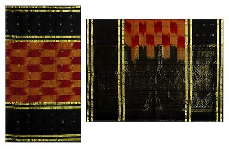 Handloom Cotton Tant Saree with Black Border