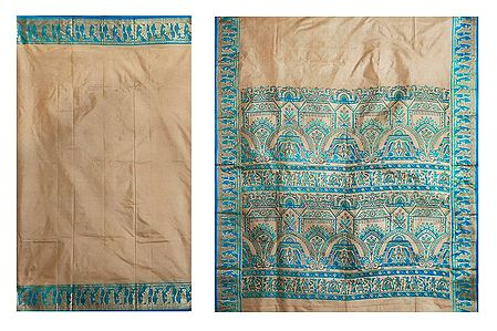 Tussar Silk Saree with Baluchari Design