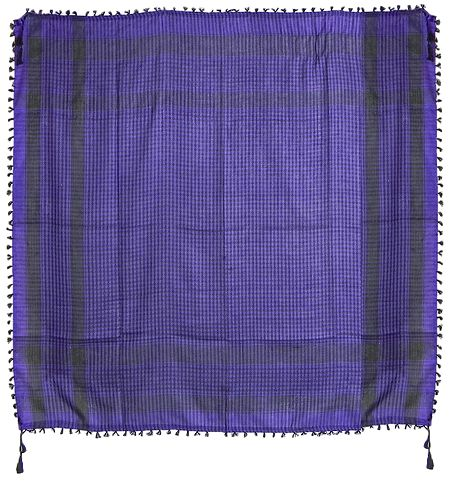 Muslim Woven Purple with Black Check Cotton Scarf