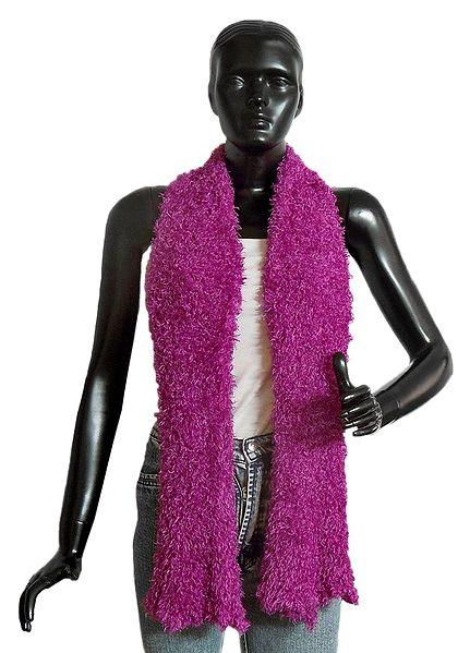 Magenta Silk Thread Soft Scarf