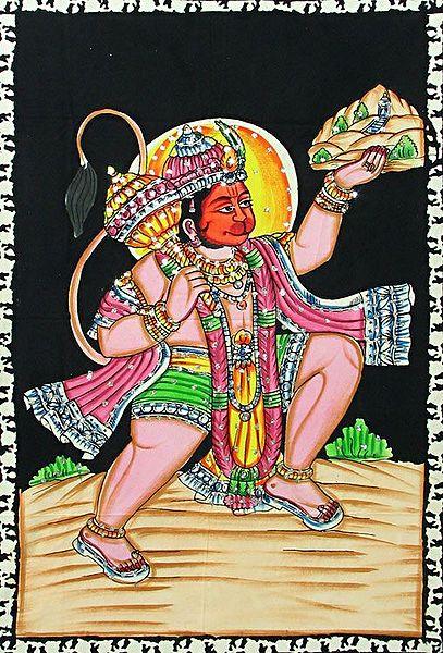 Hanuman Lifts Gandhamadan Parvat for Sanjivani Booti