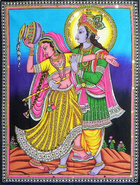Radha Krishna in a Playful Mood