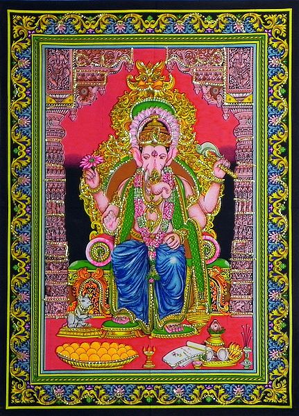 Ganesha as a King