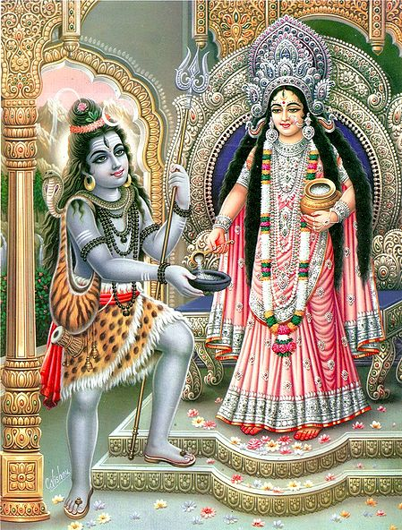 Annapurna Giving Alms to Lord Shiva