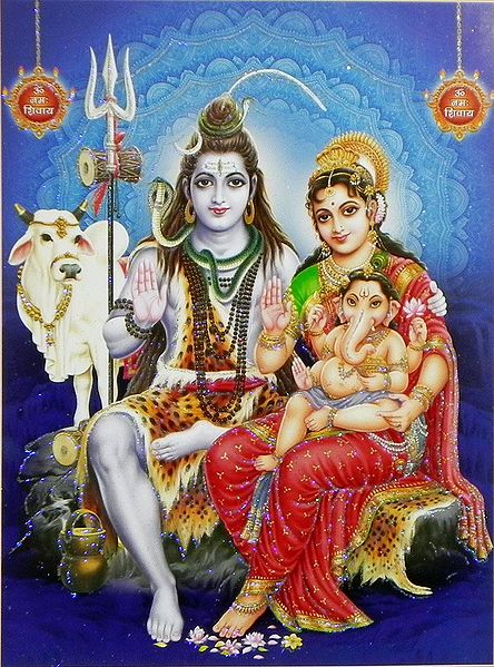 Shiva Parivar - Glitter Poster