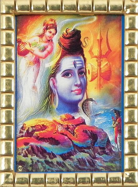 Shiva Locks River Ganga in His Hair
