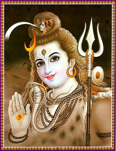 Shiva Holding Ganga in His Matted Coils of Hair