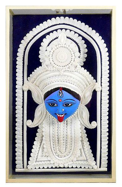Face of Shyama Kali - Wall Hanging