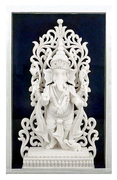Shola Pith Standing Ganesha