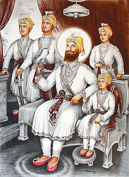 Guru Gobind Singh with His Four Sons