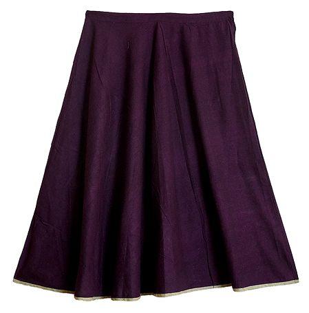 Dark Purple Cotton Skirt