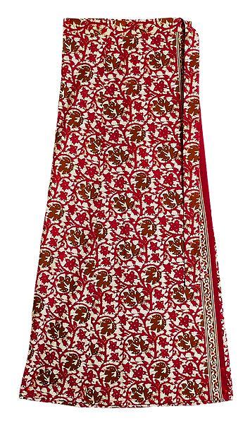 Printed Wrap Around Skirt
