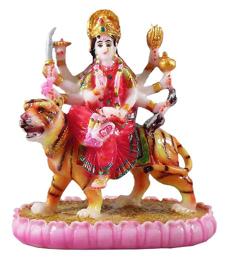 Goddess Bhagawati Sitting on Tiger