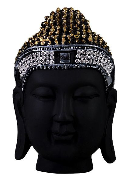 Black Buddha Head - Wall Hanging