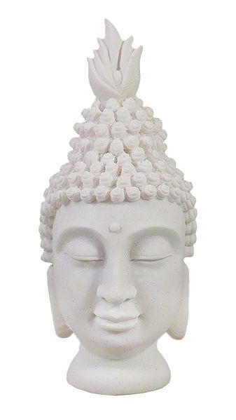 White Buddha Head