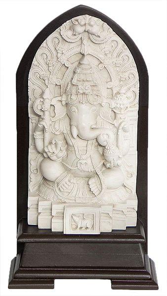 Lord Ganesha Sitting on a Throne