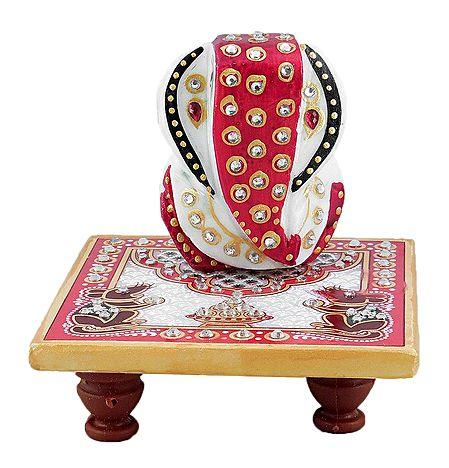 Ganesha Sitting on Chowki