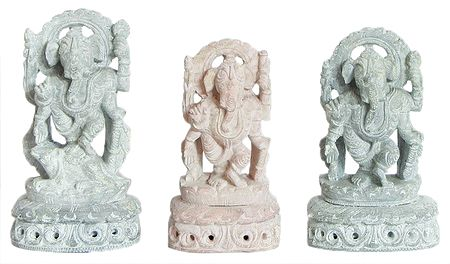 Set of 3 Standing Ganesha