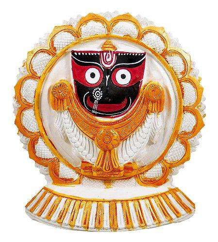 Jagannathdev on a Round White Lotus