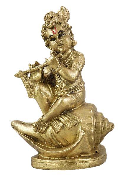 Krishna on Conch