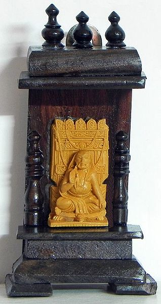 Ramanuj in a Wooden Temple