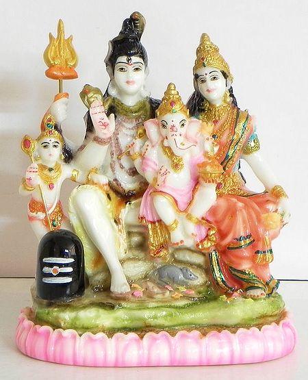 Shiva, Parvati, Ganesha and Kartikeya