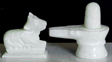 Shiva Linga with Nandi