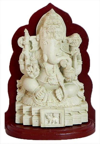 Lord Ganesha Sitting on a Platform
