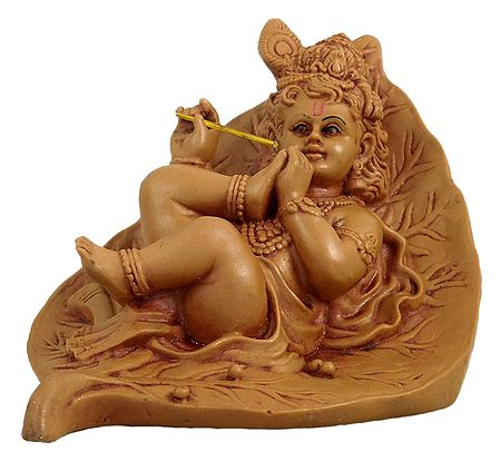 Krishna Resting on Leaf