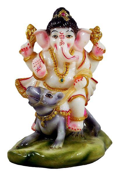 Ganesha Riding on Mouse