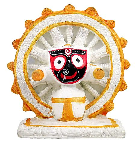 Sri Jagannath in Front of Konarak Wheel