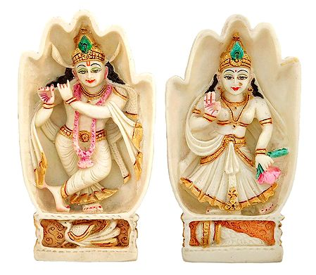Radha Krishna inside Hand Palm