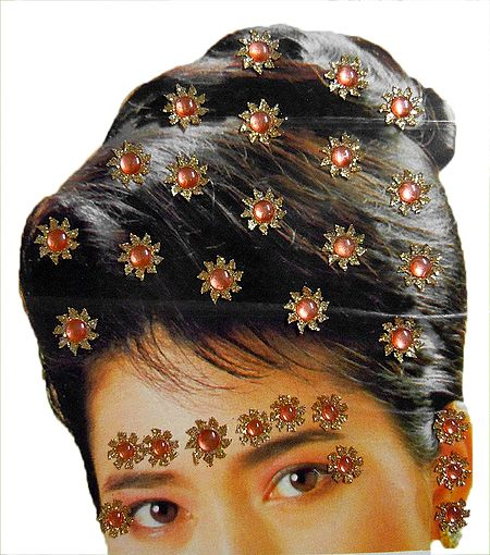 Stick-on Hair, Forehead and Ear Decoration for Brides
