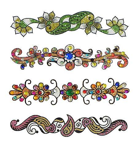 Set of 4 Glitter Tattoos