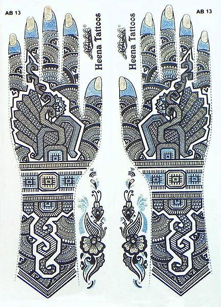 Set of Glitter Sticker Mehendi for Single Hand Decor