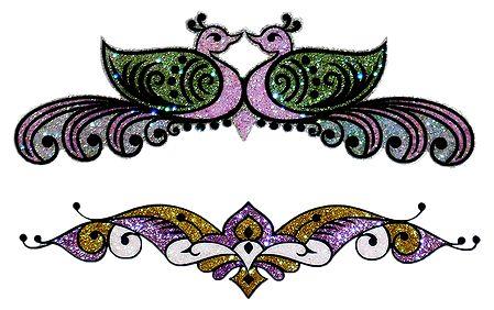 Set of 2 Glitter Bracelet Tattoo