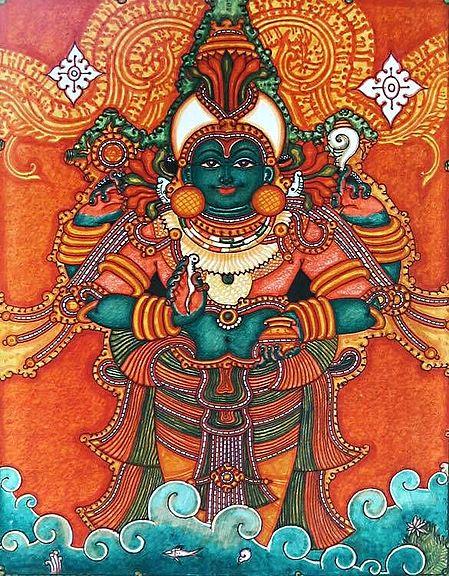 Dhanvantari - A Form of Vishnu as the Physician of God and  the God of Ayurvedic Medicine