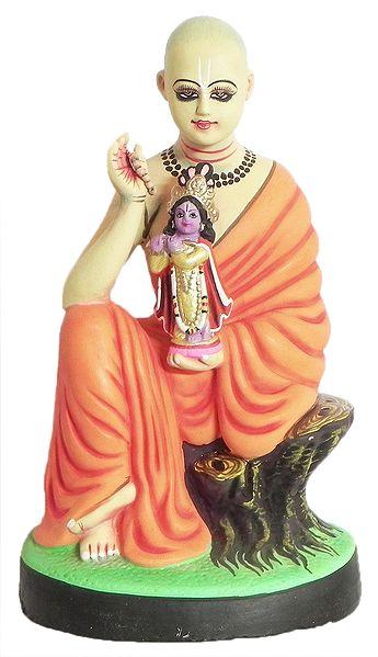 Sri Chaitanyadev with Idol of Krishna