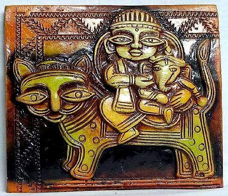 Durga and Ganesha