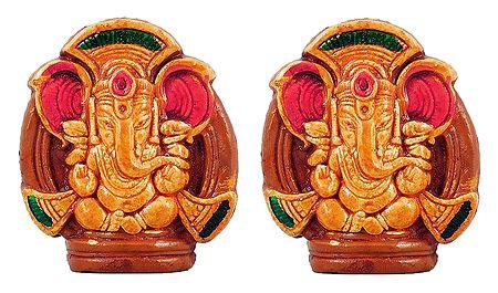 Set of 2 Ganapati