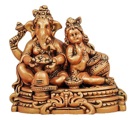 Ganesha with Krishna