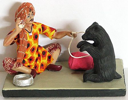 Madari - Roadside Entertainer with Dancing Bear