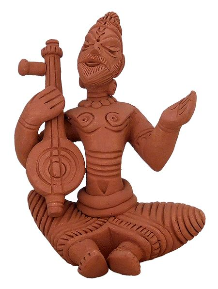 Baul Singer - Terracotta Statue