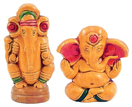 Set of 2 Ganesha
