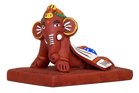 Baby Ganesha - Terracotta Statue
