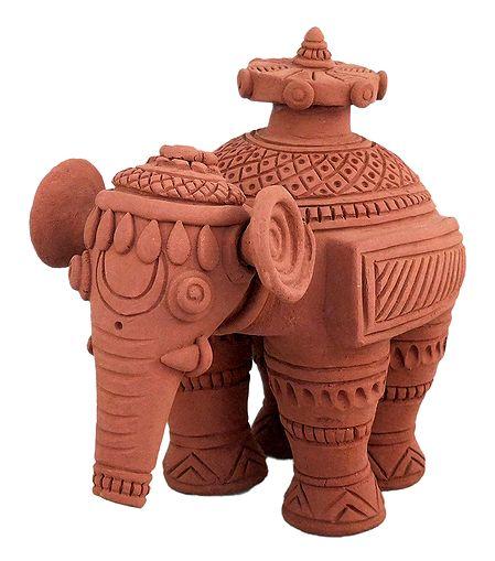 Elephant - Terracotta Statue