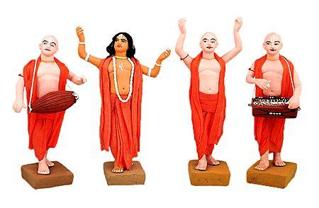Vaishnavas - Devotees of Lord krishna - Set of 4