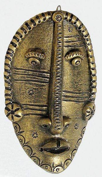 Tribal Mask - Terracotta Wall Hanging