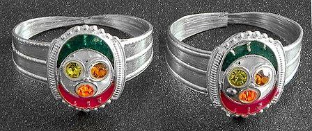 Stone Studded Toe Ring